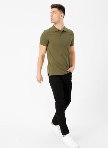 Limon Company Peter Dar Paça Çizgili Pamuklu Düz Erkek Günlük Pantolon Siyah